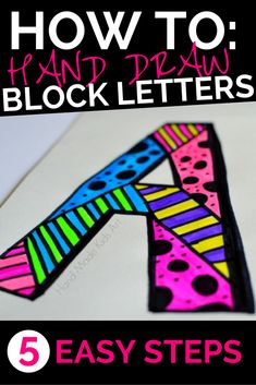How to create your own block letters in 5 easy steps. Wow! So, simple!