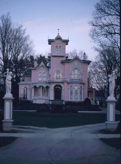 Pink House in Wellsville, New York