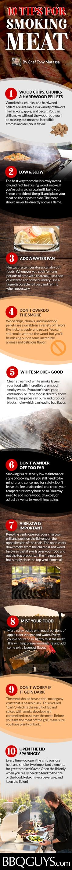 For the true BBQ lover, there is nothing better than slow-smoked meat off the grill. Incredible smoky wood aromas mixed with tender meat is a match made in heaven. Here's a few tips to get you started, try them out and your taste buds will thank you later. Happy Smoking!