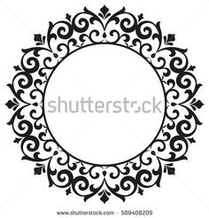 Decorative line art frames for design template. Elegant element for design in Eastern style, place for text. Lace vector illustration for invitations and greeting cards Islamic Art Pattern, Pattern Art, Stencil Designs, Paint Designs, Decorative Lines, Decorative Borders, Arabesque, Photo On Wood, Floral Border