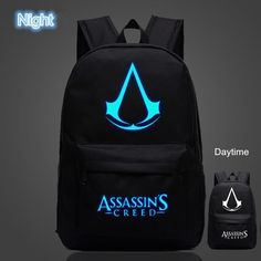 FVIP Free Shipping High Quality Lumious Assassins Creed Backpack Hot Game Boy Girl School Bags For Teenagers Oxford Backpacks