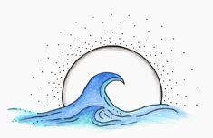 Watercolor Ocean, Watercolour Painting, Art Drawings Beautiful, Bullet Journal Writing, Circle Art, Aesthetic Art, Cute Stickers, Easy Drawings, I Tattoo