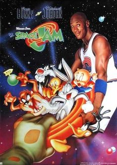 Space Jam is a 1996 American live-action/animated sports family/comedy film starring basketball player Michael Jordan and featuring the Looney Tunes characters.