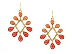 Roberta Chiarella Dazzling Teardrop Earrings Love the color