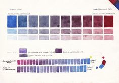 Colour Mixing Charts for Watercolour - Jane Blundell - Artist Watercolor Pencil Art, Watercolor Mixing, Watercolor Tips, Watercolour Tutorials, Watercolor Techniques, Watercolor Illustration, Watercolor Paintings, Watercolours, Watercolor Pallet