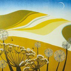 'Daffodil Hill' by Carol Lander.  Blank Art Cards By Green Pebble.