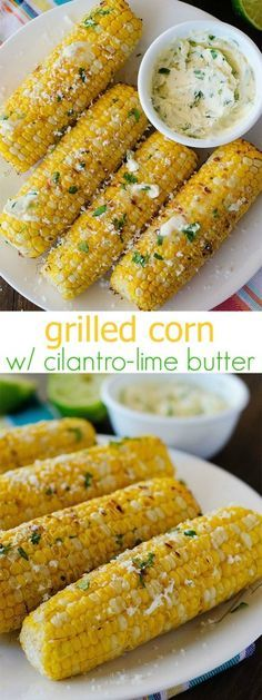 BBQ Grill | Grilled Corn with Cilantro Lime Butter