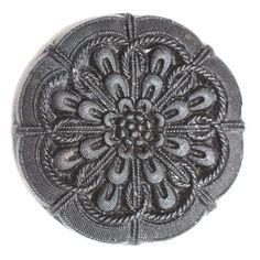 Black Glass Button  Large by KPHoppe on Etsy  http://www.hoppeglass.com