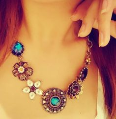 Cheap necklace black, Buy Quality necklace men directly from China necklace silicone Suppliers: Retro Vintage European Style Gorgeous Austria Turquoise Crystal Flowers Bib Statement Necklace for Wedding Party Fashion Jewelry Necklaces, Tribal Jewelry, Charm Jewelry, Fashion Necklace, Pendant Jewelry, Women Jewelry, Pendant Necklace, Jewelry Accessories, Fashion Jewellery