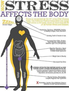 How #Stress Affects Our Body #healthy