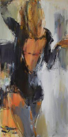 "Saatchi Art Artist Nelina Trubach-Moshnikova; Painting, ""Girl in black"" #art"