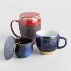 Reactive Glaze Infuser Mugs Set of 2 - v2