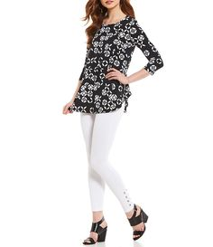 a8214783cdfd4f Shop for Westbound Petites 3 4 Sleeve Seamed Tunic Top at Dillards.com.