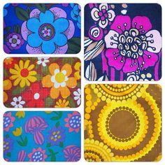 1960's/70's fabrics - @Donna Flower- #webstagram