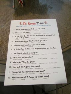 I know you said no corny games. But this could be fun to leave at the table and have an answer sheet somewhere.