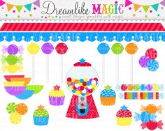 Little Star Sweet Shop Collection Clipart for by DreamlikeMagic. , via Etsy.