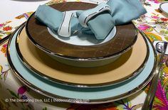 Porcel's Ethereal Blue, Moka and Chocolate Dinnerware Collections Mix and Match Settings