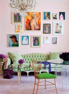 Mooie kleurencombinatie - groen, roze, lila.