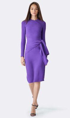 Cora Silk Long-Sleeved Dress - Collection Apparel Short Dresses - RalphLauren.com