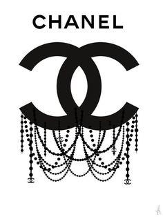 Chanel logo, Chanel poster, Chanel art, Chanel print, Chanel illustration, fashion illustration, fas