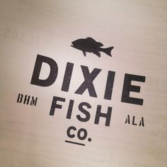 I just like the bulleit custom font it 39 s clearer on label for Dixie fish company