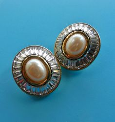 Super stylish Simulated  Pearls Clip Earrings  and by RAKcreations