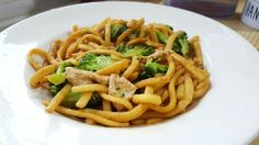 Egg noodles with peanut sauce