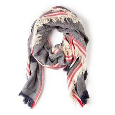 "Sole Society ""woven stripe scarf w/ fringe"""