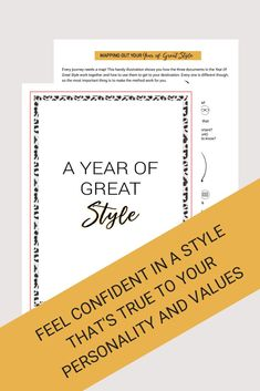 A Year of Great Style Complete Print Edition - Citizenne Style Sustainable Style, Sustainable Fashion, Wardrobe Planner, Journey Mapping, Wishes For You, Shake It Off, Worlds Of Fun, Slow Fashion, Work On Yourself
