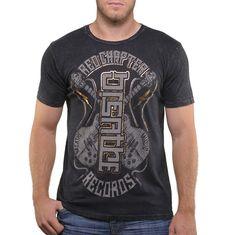 Breathe / Music - Black Short Sleeve Men's Crew Neck T-Shirt