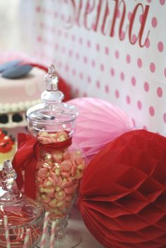 Minnie mouse candy table by mon tresor