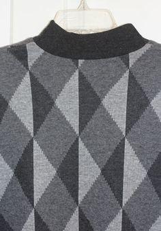 76034eebee1 1980s Gray Black Ladies Diamond Pattern Sweater - Petite M Petite Size