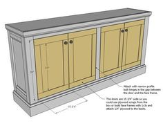 Ana White   Build a Shanty Sideboard   Free and Easy DIY Project and Furniture Plans