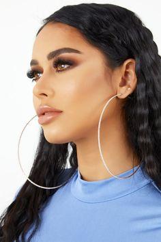 Gold Ear Jackets + Opal earrings- simple ear jacket/ dainty ear jacket/ ear jacket earring/ gold ear jackets/ gifts for her/ birthday gift - Fine Jewelry Ideas Diamond Hoop Earrings, Small Earrings, Silver Hoop Earrings, Ear Jacket, Oversized Hoop Earrings, Ear Jewelry, Makeup, Jewerly, Beauty