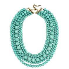 Women's Baublebar 'Globe' Multistrand Beaded Necklace ($29) ❤ liked on Polyvore featuring jewelry, necklaces, collane, jewels, turquoise statement necklace, beaded necklaces, green turquoise necklace, turquoise bead necklace and jewel necklace