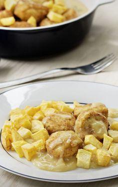 Albóndigas de merluza con salsa de vino blanco Thermomix