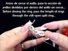 Frivolite-tatting lesson 79 - Anillos divididos entrelazados - Interlock...