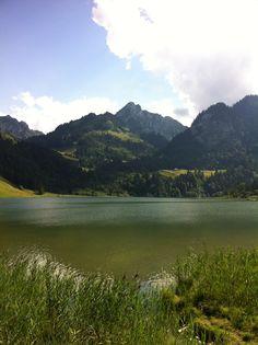 Schwarzsee in Schwarzsee, Switzerland