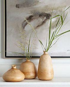 Organic Wooden vases