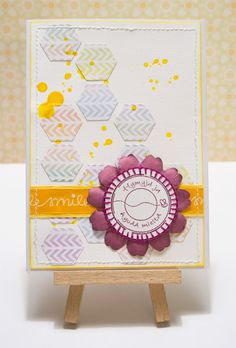 Die-cut hexagons on a 'clean and simple' card