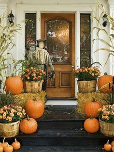Fall Porch Decorations dream-home