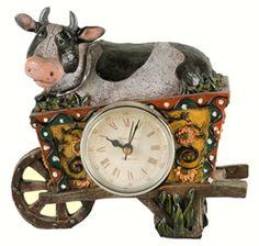 Cow Desk Clock at Simply Bovine.