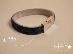 Subtiele armband | Blauw/ zwart