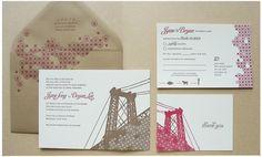 Brooklyn Bridge invitations