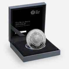 Royal Mint The Royal birth 2015 limited edition silver proof coin - boxed Royal Princess, Princess Charlotte, Commemorative Coins, Royal Babies, Proof Coins, William Kate, Uk 5, Coin Collecting, Great Britain