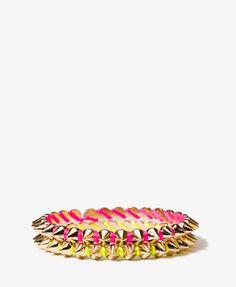 Spiked Threaded Bracelet Set | FOREVER21 - 1040126969