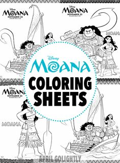 Moana Coloring Sheets – Free Printables from the new Disney Movie Moana with Maui, Heihei, and Pua characters Moana Themed Party, Moana Birthday Party, Luau Birthday, 3rd Birthday Parties, Moana Party Bags, Birthday Ideas, Moana Coloring Sheets, Disney Coloring Pages, Colouring Pages