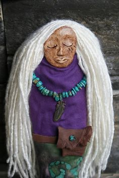 Sacred Protection Spirit Doll by AlderandBirch on Etsy Spirit Tattoo, Broken Spirit, Worry Dolls, Spirited Art, Spirit Science, Doll Maker, First Nations, Talking Sticks, Native American Indians