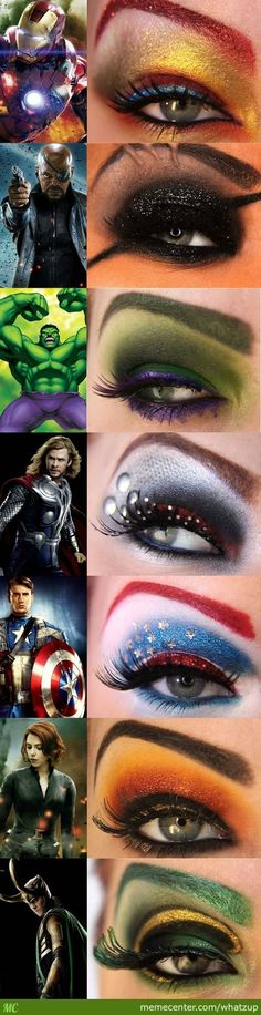 #Beauty | Avengers #Eye #Makeup . . .#colors #style #diy #art #shadow #fashion