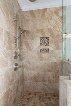 Small Bathroom With Shower, Master Bathroom, Bathroom Ideas, Tile Showers, Ocean Isle Beach, Arrow Keys, Close Image, Custom Homes, Building A House